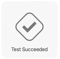Testing succeed notification