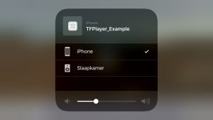AirPlay selection screen